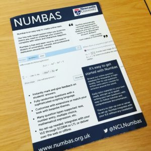 'Numbas' online test tool