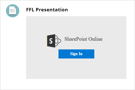 An image showing the SharePoint Online login box on Blackboard