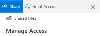 An image showing the Manage Access panel of OneDrive
